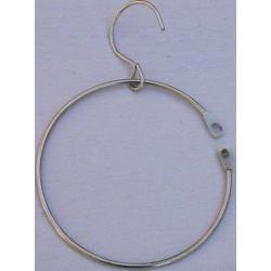 Anneau metalique avec crochet